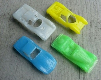 Set of Four 1964 Cracker Jack Plastic Cars Set Set A