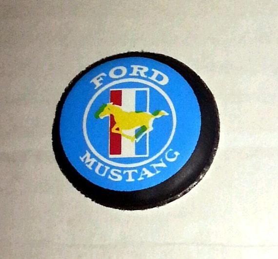 1974 Ford MUSTANG Logo Advertising Slogan Magnet