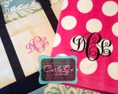 Large beach towel personalized with monogram or name and boat tote bag - great for wedding/bacherlorette/Mother's Day