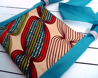 African print bag, Shoulder / over shoulder cotton bag