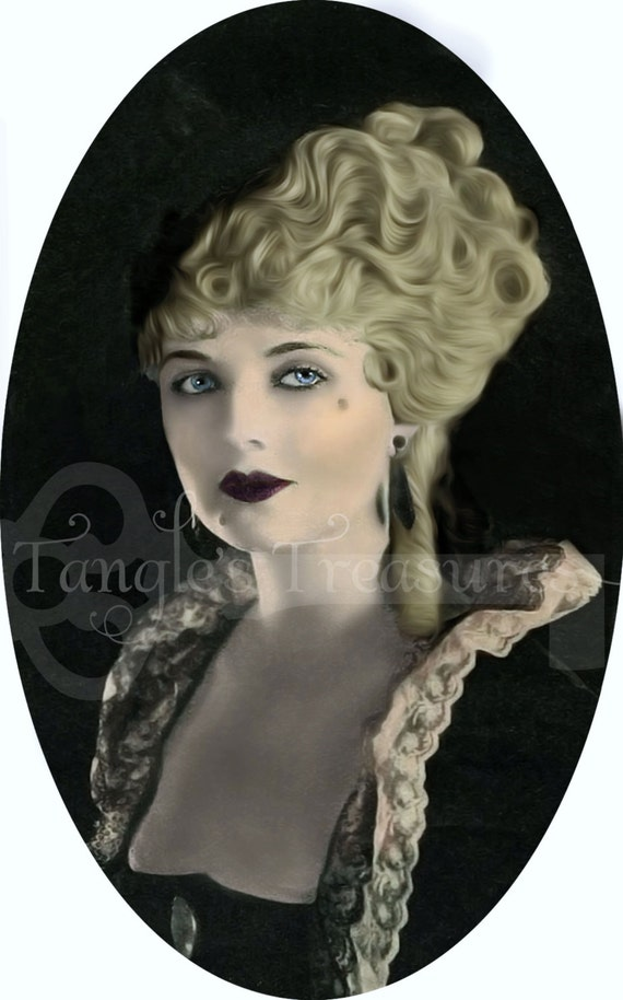 French woman in Costume Vintage Digital Image - Commerical Use - Image No. SL16