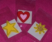 Painted SETS of Wooden Cut-Outs - Multiple Themes to Choose From - Shapes, School, Americana and Farm Themes - BRAND NEW!