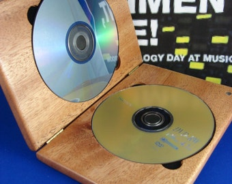 DVDCase,Mahogany,DoubleDVDCase,DVD,CD,Wood,Engraved,Personalized Engraving