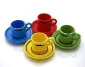 Mustache Moustache Espresso Cups and saucers set of four