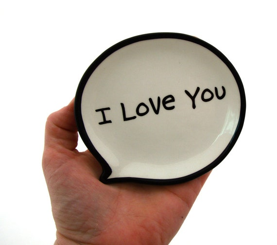 Mom I Love You, Mother's Day personalized Trinket Dish or Tea Bag Holder, great gift for Mom