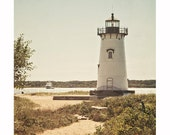Lighthouse Photography, Martha's Vineyard, Nautical Coastal Decor, Summer Photograph, Seaside Beach Decor, Rustic, New England Travel Art