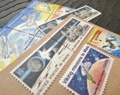 Mission .. Space ..  UNused Vintage Postage Stamps  .. post 8 letters