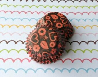 SALE - Mini Devil Hearts Cupcake Liners