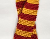 Made to Order - Maroon & Gold Gryffindor Scarf for Doll or Baby