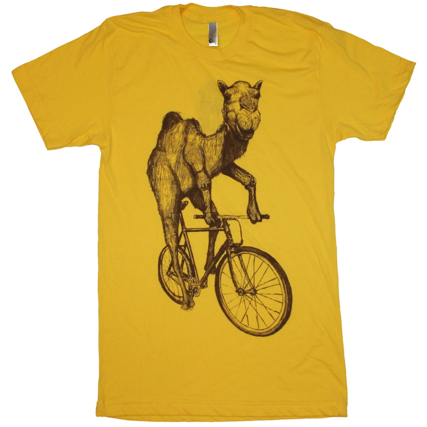 mens camel t shirt camel on a bike. Black Bedroom Furniture Sets. Home Design Ideas