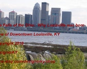 The Falls of the Ohio:  Why Louisville was born - Downton Louisville, KY  Skyline - Photo 1 - 8 x 10 inch Photograph