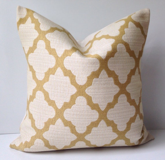 Decorative Pillow Cover Throw Pillow Gold Yellow by nestables