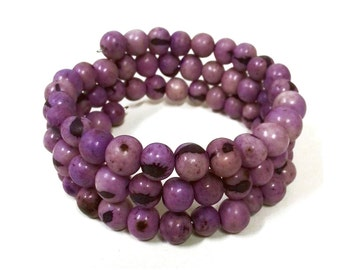 Purple Orchid Acai Bracelet / FREE SHIPPING / Fair Trade Made in Brazil from Natural Acai Beads BRA-005