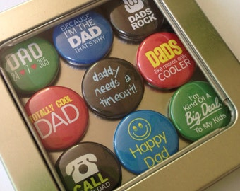 Dad Magnets 2 / Refrigerator Magnets / Locker Magnets / Ready for Gift Giving