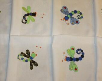 Fun Dragonflies Machine Embroidered Quilt Blocks Set