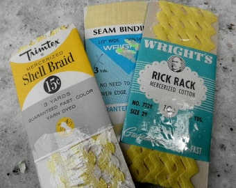 Vintage Rick Rack   Shell Braid   Seam Binding