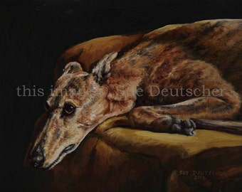 Greyhound print from painting