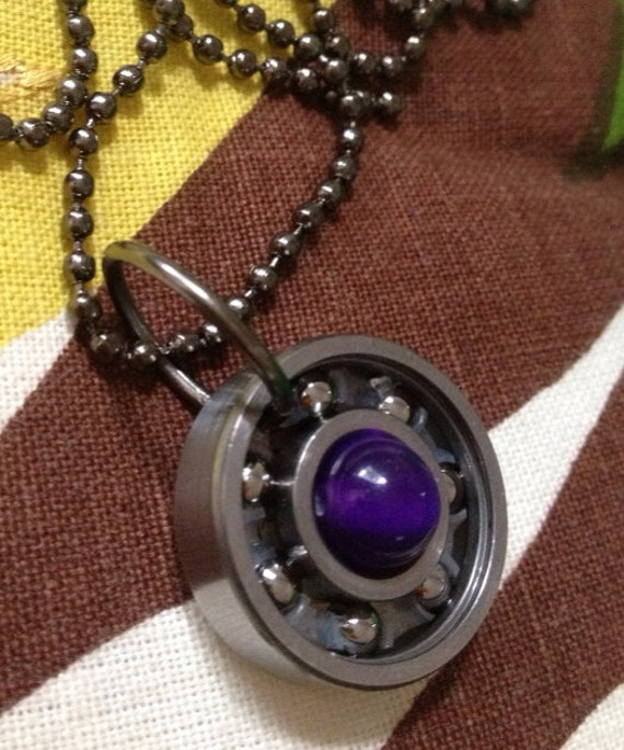 Upcycled roller derby bearing pendant