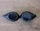 The Mad Scientist - Antique Goggles - Blue Glass - Vintage - Halloween - Gothic - Steampunk - Men - becaruns