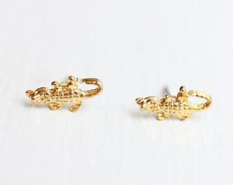 Gold Gator Studs