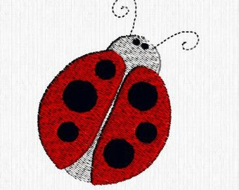 Ladybug Lady Bug Machine Embroidery Digitized File Design for 4x4 hoop INSTANT DOWNLOAD!