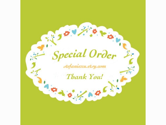 Special order for icutiegiftshop