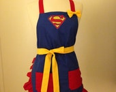 Superman Embroidered Apron