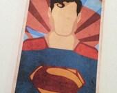 Retro Superman Luggage Bag Tag Personalized