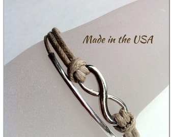 Infinity bracelet, charm bracelet, friendship bracelet