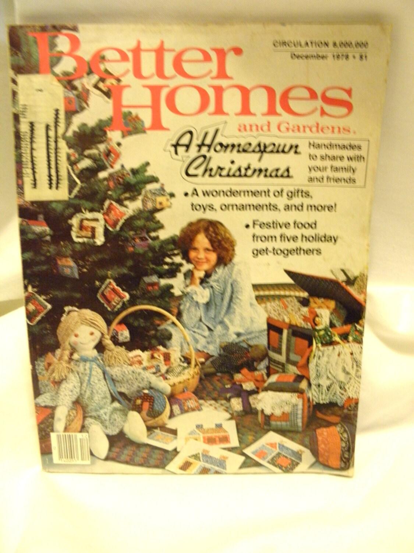 Better Homes And Gardens December 1978 A Homespun