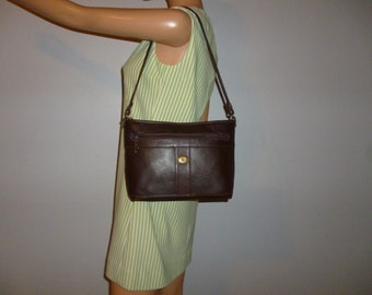 Vintage 90's - Antigua - Chocolate Brown - Stitched - Leather - Bag - Made in Guatemala