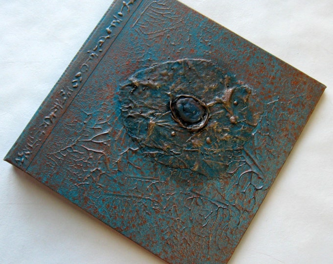 Handmade Journal Distressed Turquoise Copper Sea Jewel Refillable 8x8 Original