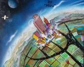 Sphere - Surreal Landscape Art by Mizu - Giclee Canvas Print - Denver Colorado