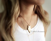 NEW - Venus Necklace - Made in USA Vintage Raw Brass Arrowhead Pendant - Domestic Free Shipping