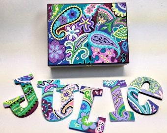 Custom hand Painted Keepsake Box. Personalized Custom Painted Trinket Jewel Box