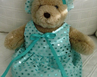 Teddy Bear Clothes, Tatiana Dress & Headband