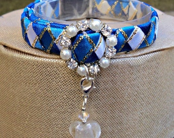 Blue Cat Collar Designer Breakaway style