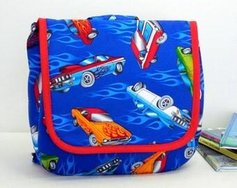 Dry Erase Art Activity Children's Backpack Bag Hot Rod Cars