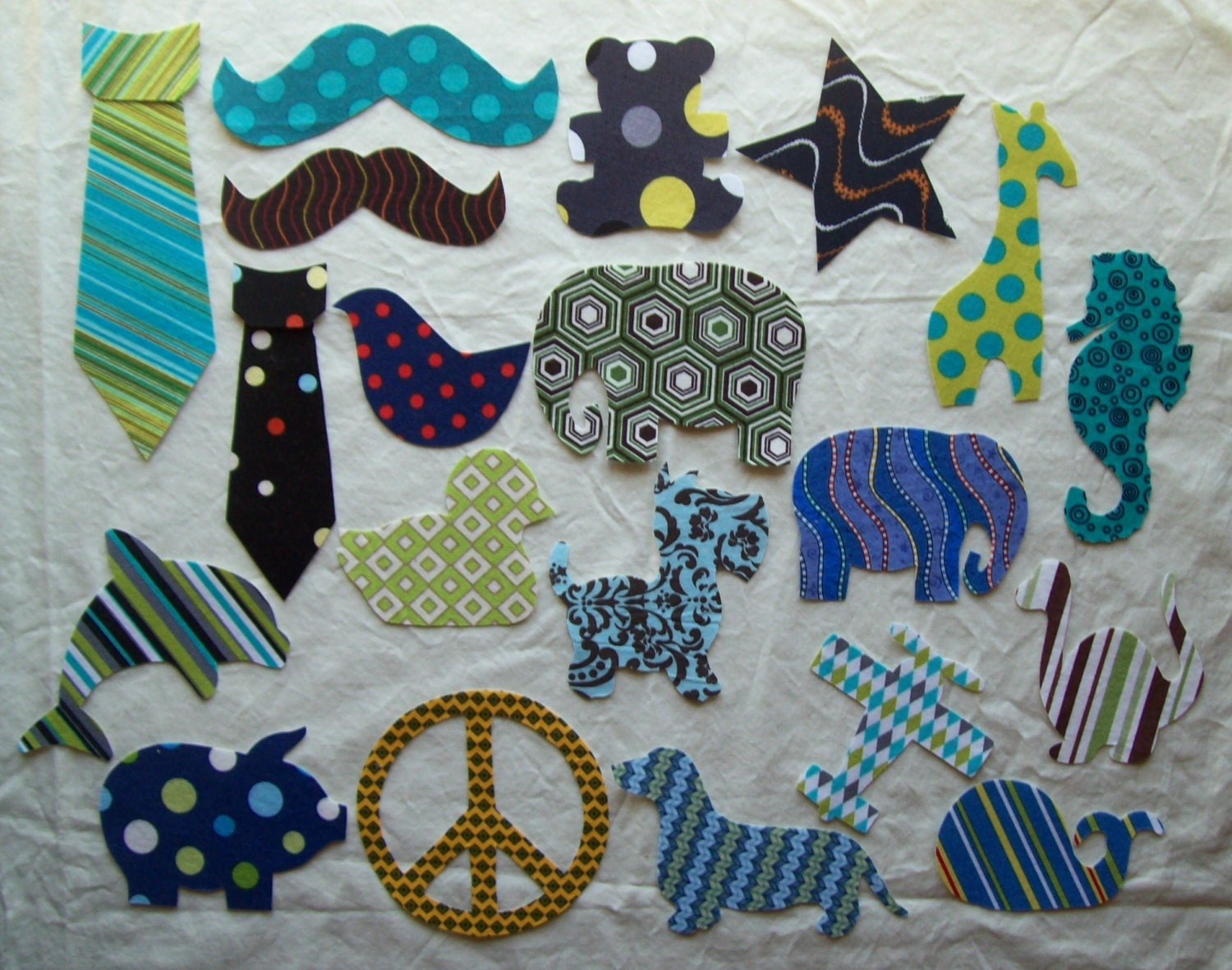 mixed 20 piece diy fabric iron on appliques for boys baby