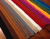 SALE, 20 Inch YKK zippers in bulk, 15 pcs, black, brown, grey, beige, red, burnt orange, purple fuchsia, pink, buttercup, teal, olive, blue