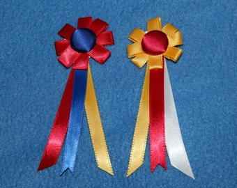 2 Medium Model Horse Rosettes, 5 inches, Champion and Reserve Champion, Set of 2 Awards