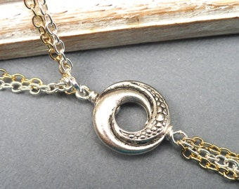 Algerian Love Knot Necklace, Love Knot Necklace, Version 2