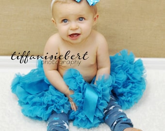 Blue Stars and Bows Baby Leg Warmers