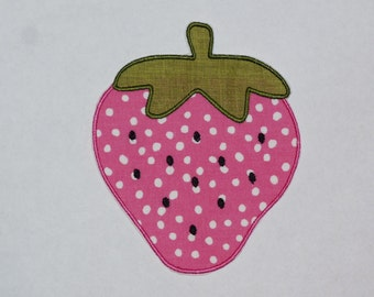 "Embroidered Iron On Applique-  ""Strawberry"""