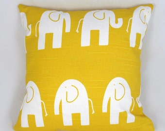 Elephant Pillow - Decorative Pillow - Accent Pillow - Kid Pillow - Room Decor - Yellow