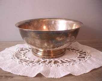 Vintage Romantic Gorham Silverplate Pedestal Bowl ~ Shabby Chic Cottage
