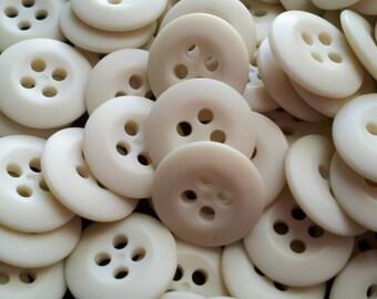 Cream/Off White Buttons - 9/16 inch - YOU PICK QUANTITY - 50 thru 700