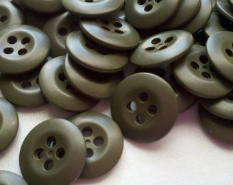 Army Green Colored Buttons - 5/8 inch - 50