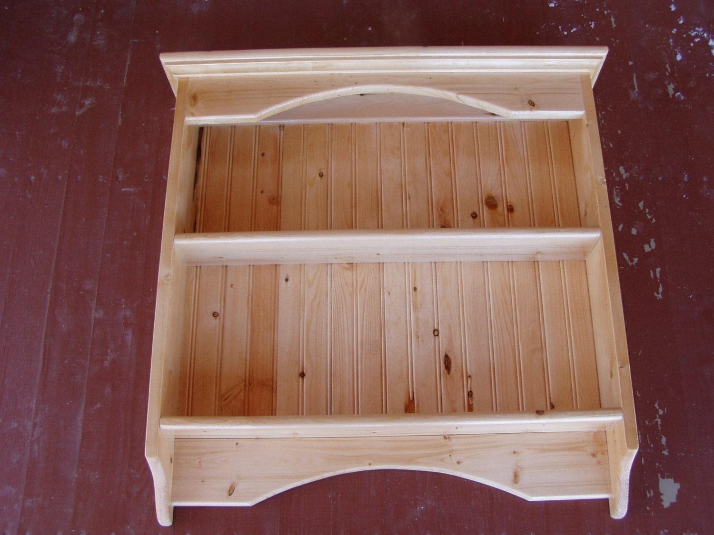 Display Rack Wood Knick Knack Wall Shelf Display Pine