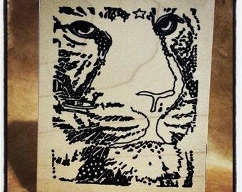 Tiger Rubber Stamp - Paula Best - PB3102